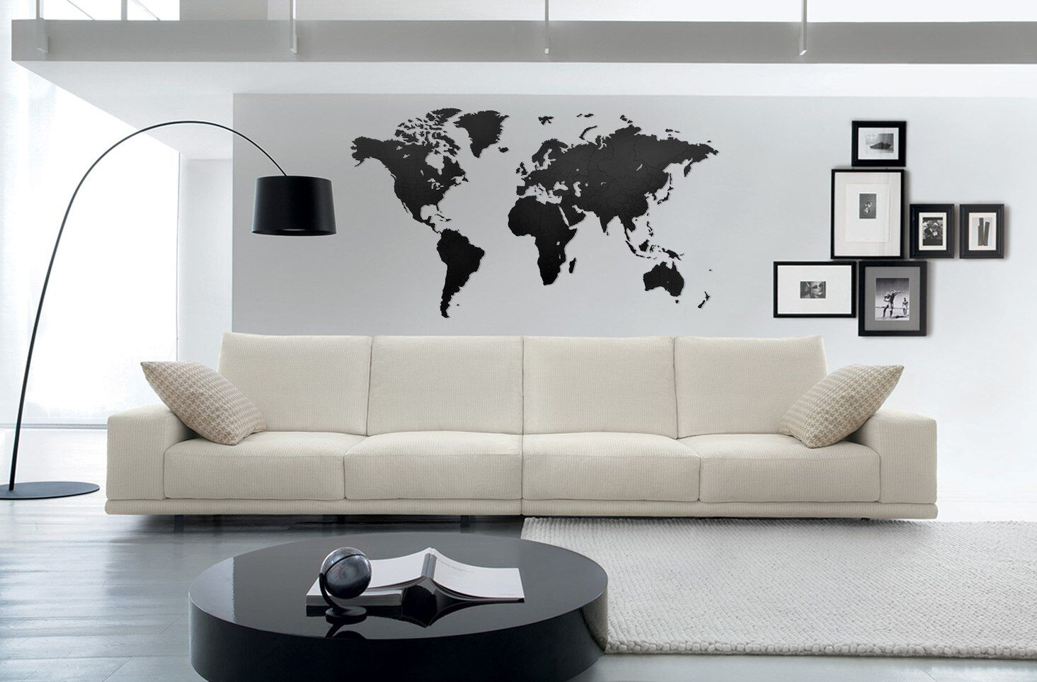 Карта-пазл Wall Decoration black
