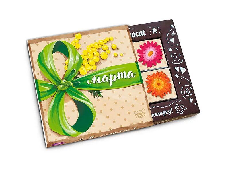 для деревянного поздравление на шоколадке с 8 марта название
